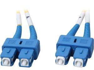 Coboc CY-OS1-SC/SC-2 6.56 ft. Yellow Singlemode 9/125 Duplex LSZH Fiber Patch Cable SC - SC,M-M