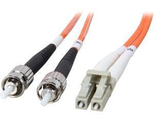 Coboc CY-OM1-LC/ST-2 6.56 ft. Orange Multimode 62.5/125 Duplex LSZH Fiber Patch Cable LC - ST,M-M