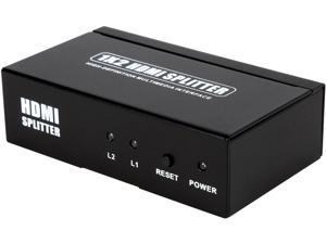 Coboc HA-HMSPL-1X2 2 Ports 1 x 2 HDMI Amplified Powered Splitter/Signal Distributor w/ 3D HDCP 1080P Support