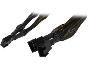 "Coboc TX4SPL2-6 6"" Sleeved  6 inch 1 to Two(2) x 4-pin TX4 PWM Fan Power Splitter Cable(Net Jacket)"