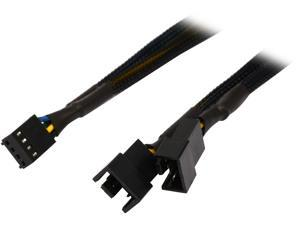 "Coboc TX4SPL2-12 12"" Sleeved 12 inch 1 to Two(2) x 4-pin TX4 PWM Fan Power Splitter Cable(Net Jacket)"