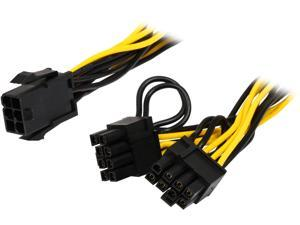 6 pin pci express power cable newegg coboc pcie6spl28p 6 6 6 pin pcie to two2 x sciox Images