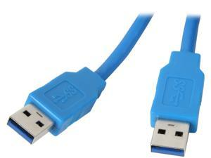 Kaybles USB3-MM-15FT 15 ft. Blue USB 3.0 A Male to A Male Cable in Blue Color 15 feet - OEM