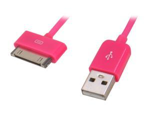 Candywirez CW-C806 4.5 ft. USB Sync/Charge Cable for iPod/iPhone/iPad, Pink