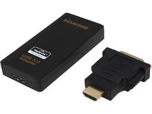 The Diamond Multimedia BVU3500H USB 3.0 to HDMI/DVI adapter, Multiple Display Monitor up to 2048 x 1152 and 1080P resolutions (Display Link DL-3500)