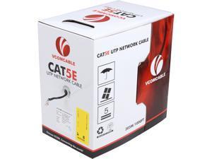VCOM VC514-BLAC 1000 ft. Cat 5E Black Solid UTP Cable