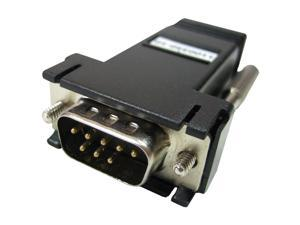 Perle RJ-45F to DB-9M Straight-thru (DCE) Adapter