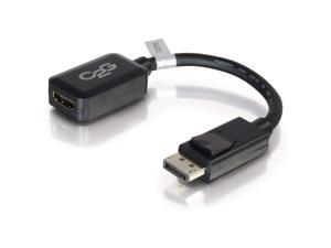 C2G/Cables To Go 54322 8in DisplayPort Male to HDMI Female Adapter Converter - Black