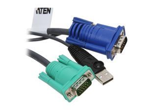 ATEN 4 ft. USB Intelligent KVM Cable 2L5201U