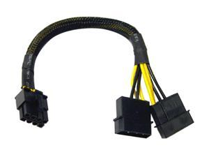 "LOGISYS AD202 9.5"" 12V Molex to 8pin P8 Adapter M-M"