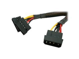 Logisys AD203Y 6 in Molex to two SATA Y Cable Adapter