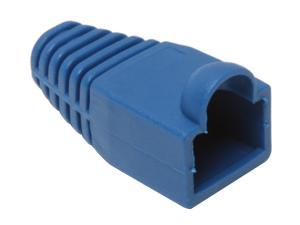 BYTECC Blue Color Snagless Boots for RJ45, 50-Pack
