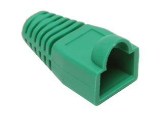 BYTECC Green Color Snagless Boots for RJ45, 50-Pack