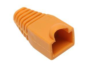 BYTECC Orange Color Snagless Boots for RJ45, 50-Pack