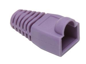 BYTECC Purple Color Snagless Boots for RJ45, 50-Pack