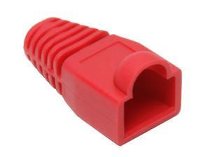 BYTECC Red Color Snagless Boots for RJ45, 50-Pack