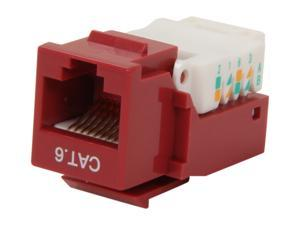 BYTECC RJ45TL-R Cat. 6 Tool Less Keystone Jack - Red