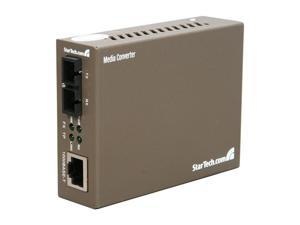 StarTech 1000 Mbps Gigabit Single-Mode Fiber Ethernet Media Converter SC - Convert and extend a Gigabit Ethernet connection ...