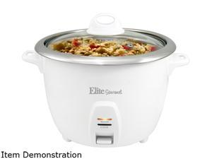 Elite - Gourmet 10-Cup Rice Cooker - White
