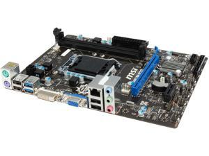 MSI H81M-P33 LGA 1150 Intel H81 SATA 6Gb/s USB 3.0 Micro ATX Intel Motherboard