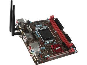MSI B250I GAMING PRO AC LGA 1151 Intel B250 HDMI SATA 6Gb/s USB 3.1 Mini ITX Motherboards - Intel
