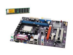 ECS GF6100-M754 (V1.0) Athlon 3200+ Micro ATX Motherboard/CPU/Memory Combo