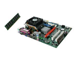 ECS Goal3+Athlon64 3200 AMD Athlon64 3200+ Micro ATX Motherboard/CPU/CPU Fan/Memory Combo