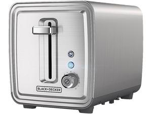 BLACK + DECKER TR2900SSD 2 Slice Toaster, Stainless Steel