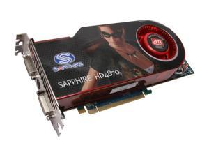 SAPPHIRE Radeon HD 4870 DirectX 10.1 100247L 512MB 256-Bit GDDR5 PCI Express 2.0 x16 HDCP Ready CrossFireX Support Video Card