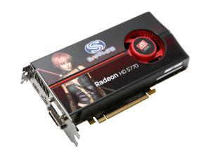 SAPPHIRE Radeon HD 5770 (Juniper XT) DirectX 11 100283L 1GB 128-Bit GDDR5 PCI Express 2.0 x16 HDCP Ready CrossFireX Support Video Card