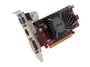 ASUS EAH6450 SILENT/DI/1GD3(LP) Radeon HD 6450 1GB 64-Bit DDR3 PCI Express 2.1 x16 HDCP Ready Low Profile Ready Video Card Manufactured Recertified