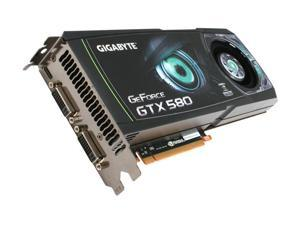 GIGABYTE GeForce GTX 580 (Fermi) GV-N580D5-15I-B Video Card