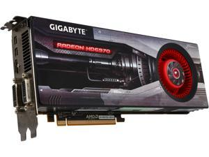 GIGABYTE Radeon HD 6970 DirectX 11 GV-R697D5-2GD-B 2GB 256-Bit GDDR5 PCI Express 2.1 x16 HDCP Ready CrossFireX Support Video Card with Eyefinity