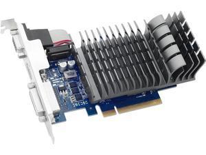 ASUS GeForce GT 710 DirectX 12 710-1-SL 1GB 64-Bit DDR3 PCI Express 2.0 x 8 HDCP Ready Video Card