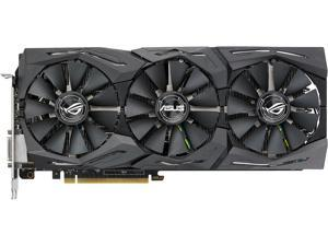 ASUS ROG Strix GeForce GTX 1080 8GB 11Gbps OC Edition VR Ready HDMI DP DVI Gaming Graphics Card (ROG-STRIX-GTX1080-O8G-11GPBS)
