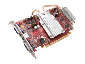 MSI Radeon HD 2600PRO RX2600Pro-T2D256EZ/D2 Silent Heatpipe Video Card