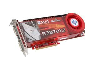 MSI Radeon HD 3870 X2 RX3870X2-T2D1G OC Video Card