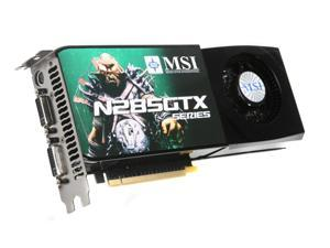 MSI GeForce GTX 285 N285GTX-T2D1G-OC Video Card