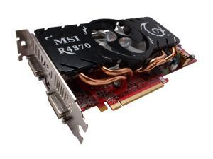 MSI Radeon HD 4870 DirectX 10.1 R4870-T2D512 512MB 256-Bit GDDR5 PCI Express 2.0 x16 HDCP Ready CrossFireX Support Video Card