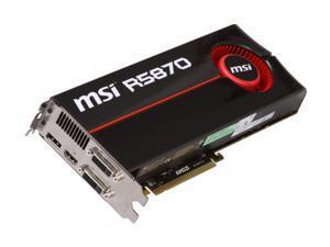 MSI Radeon HD 5870 (Cypress XT) R5870-PM2D1G Video Card