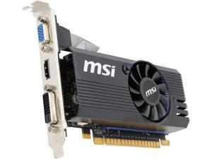 MSI GeForce GT 730 DirectX 12 N730K-1GD5LP/OC 1GB 64-Bit GDDR5 PCI Express 2.0 x16 HDCP Ready Low Profile Video Card