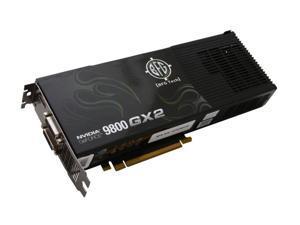 BFG Tech 9 GeForce 9800 GX2 DirectX 10 BFGE981024GX2OCXE 1GB 512-Bit GDDR3 PCI Express 2.0 x16 HDCP Ready SLI Support Video Card