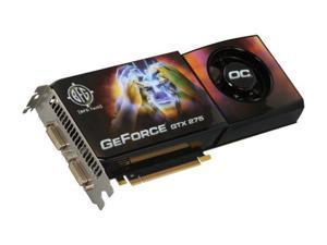 BFG Tech GTX GeForce GTX 275 DirectX 10 BFGEGTX275896OCE 896MB 448-Bit GDDR3 PCI Express 2.0 x16 HDCP Ready SLI Support Video Card