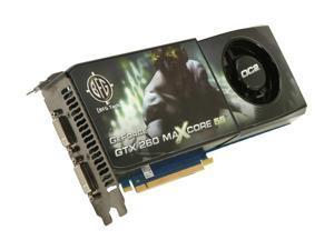 BFG Tech BFGEGTX260MC896OC2DE GeForce GTX 260 OC2 MAXCORE 55 896MB 448-bit GDDR3 PCI Express 2.0 x16 HDCP Ready SLI Supported Video Card