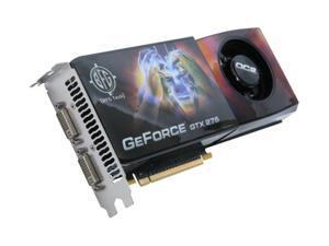 BFG Tech GTX GeForce GTX 275 DirectX 10 BFGEGTX275896OC2E 896MB 448-Bit GDDR3 PCI Express 2.0 x16 HDCP Ready SLI Support Video Card