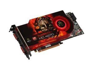 XFX Radeon HD 4870 DirectX 10.1 HD-487A-YHFC 512MB 256-Bit GDDR5 PCI Express 2.0 x16 HDCP Ready CrossFireX Support Video Card