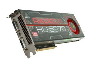 XFX Radeon HD 5970 (Hemlock) DirectX 11 HD-597A-CNF9 2GB 512 (256 x 2)-Bit GDDR5 PCI Express 2.1 x16 HDCP Ready CrossFireX Support Dual GPU Onboard CrossFire Video Card w/ Eyefinity