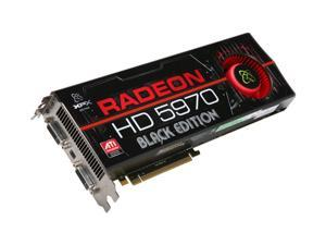 XFX HD-597A-CNB9 Radeon HD 5970 Black Edition 2GB 512 (256 x 2)-bit GDDR5 PCI Express 2.1 x16 HDCP Ready CrossFireX Support Video Card