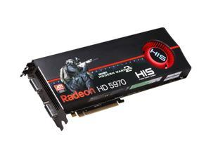 HIS Radeon HD 5970 (Hemlock) DirectX 11 H597F2GDGC 2GB 512 (256 x 2)-Bit GDDR5 PCI Express 2.1 x16 HDCP Ready CrossFireX Support Dual GPU Onboard CrossFire Video Card w/ Eyefinity