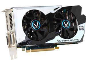 SAPPHIRE  11201-05CPO (VAPOR-X)  Radeon HD 7770 GHz Edition  1GB  128-Bit  GDDR5  PCI Express 3.0  Video Card Manufactured Recertified
